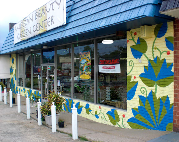 American Beauty Garden Center mural