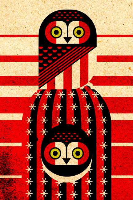 Scott Partridge - Illustration - Elf Owl