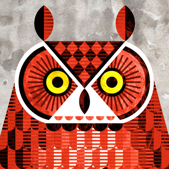 Scott Partridge - Illustration - Great Horned Owl