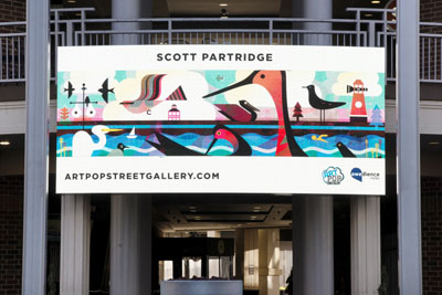 scott partridge illustration - charlotte artpop 2017 - ballantyne digital display