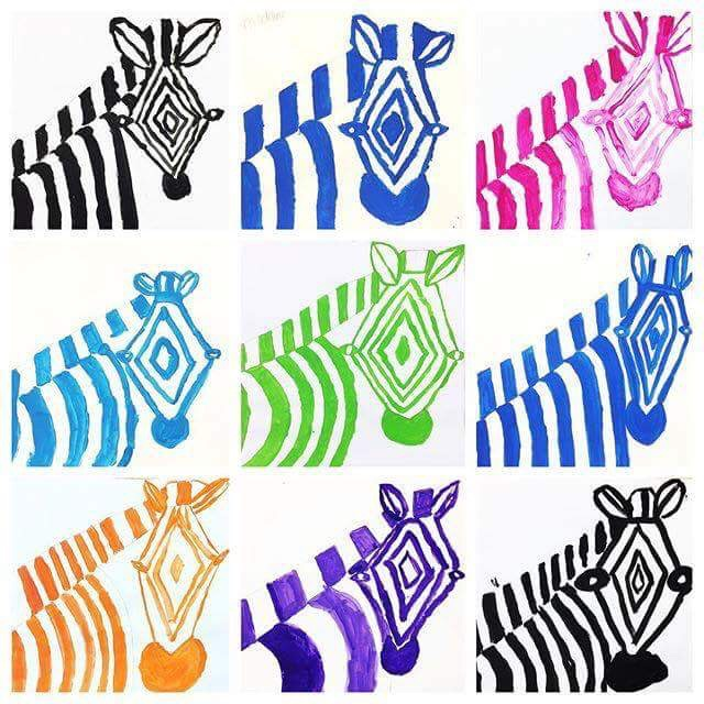 zebra design - student art