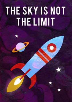 scott partridge - manifestation card - the sky is not the limit