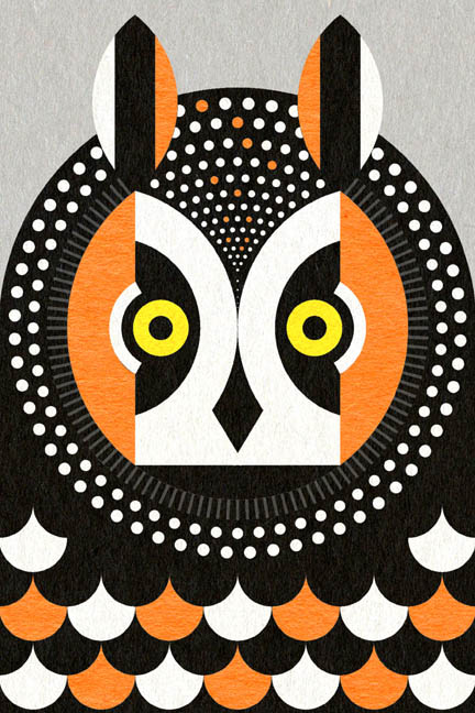 Scott Partridge - Illustration - Long Eared Owl