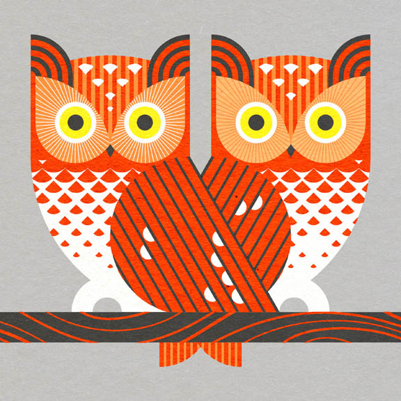 Scott Partridge - Illustration - Eastern Screech Owl