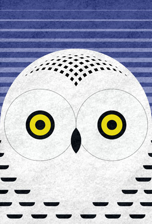 snowy owl - art o mat block - scott partridge