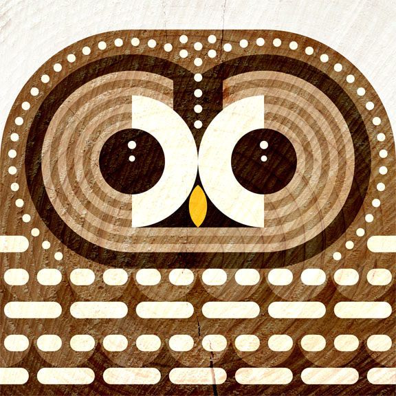 Scott Partridge - Illustration - Spotted Owl